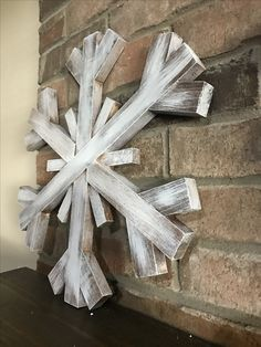 Large wooden snowflake - scrap wood