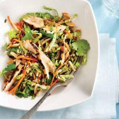 Grilled Ginger & Sesame Chicken Salad Recipe by Curtis Stone and excerpted from What's For Dinner?, published by Appetite by Random House. Sesame Chicken Salad Recipe, Grilled Chicken Recipes, Warm Chicken Salad, Recipe Chicken, Cooking Recipes, Healthy Recipes, Healthy Dishes, Cooking Time, Delicious Recipes