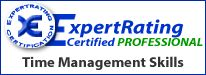 I'm Certified in Time Management from Expert Rating