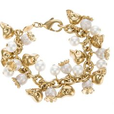 ALEXANDER MCQUEEN skull and pearl bracelet - How have I never seen this before?!