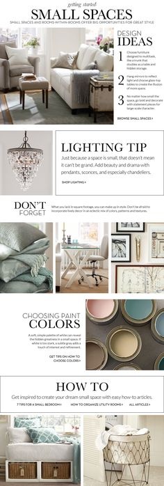#Small #Spaces #Inspiration & How to $Decorate #Small #Spaces | Pottery Barn