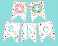 Sprinkle Donut Banner Full Alphabet Numbers Donuts For Birthday Party * sprinkle donut banner voller Donut Birthday Parties, Donut Party, Sprinkle Donut, Baby Sprinkle, Birthday Board, Dog Birthday, Donuts, Donut Decorations, Classroom Themes