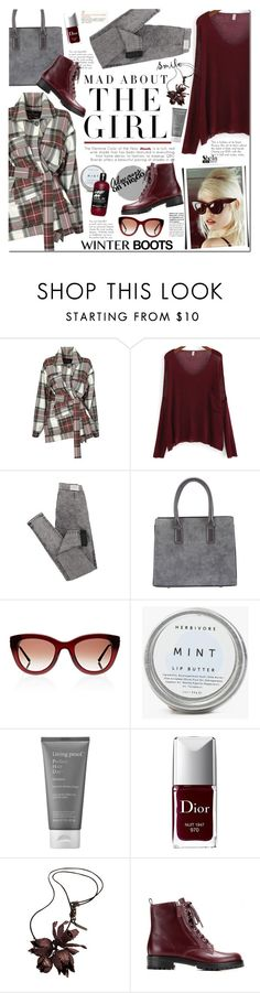 """Winter boots"" by mada-malureanu ❤ liked on Polyvore featuring Vivienne Westwood Anglomania, Kershaw, Thierry Lasry, Living Proof, Christian Dior, Burberry, Gianvito Rossi, Sheinside, winterboots and shein"