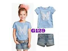 H&M Butterfly girlset (G129) || size 2-7 || IDR 117.000