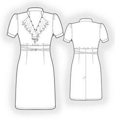 5878 PDF Dress Sewing Pattern Women Clothes by TipTopFit on Etsy