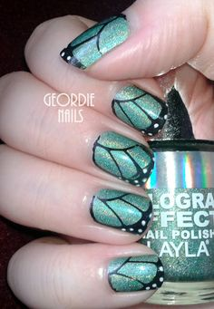 Geordie Nails: Butterfly Holo