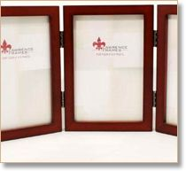 Tri Fold Double Sided Picture Frame Holds Six 4 X 6 Photos And