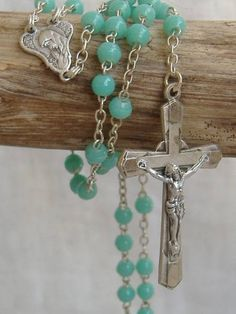 フランスアンティークロザリオペンダントエメラルド教会3470 Antique rosary ¥2300yen 〆04月02日
