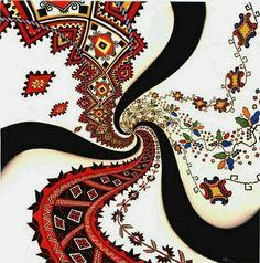 Oku myle vyshyttya or Ukrainian embroidery kaleidoscope, Ukraine, from Iryna with love Ukraine, Ukrainian Christmas, Decorated Wine Glasses, Ukrainian Art, Dancing Clipart, My Heritage, Beauty Art, Textures Patterns, Color Splash