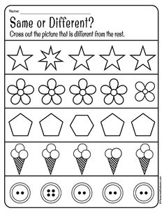 Preschool literacy and early reading skills worksheets perfect for emergent readers. Comparing objects and learning differences in preschool. Preschool Learning Activities, Free Preschool, Preschool Curriculum, Preschool Lessons, Opposites Preschool, 3 Year Old Preschool, Prek Literacy, Pre K Activities, Printable Preschool Worksheets