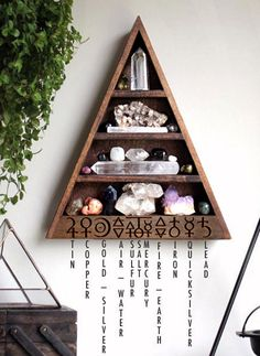 The Original Alchemy Shelf Triangle Shelf for Crystal Display