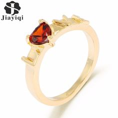 Jiayiqi(Jiayiqi) Summer CZ Crystal Rings For Valentines Gift Wedding Rings Fashion Jewelry Size 5 6 7 8 9 10 For Your Choice #Affiliate