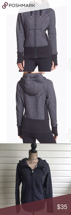 Zella Essential Hoodie in Charcoal Heather Gray Zella essential Hoodie in charcoal heather gray. Thick, warm, and cozy. Perfect for post workout. Thumb holes on sleeves to keep hands warm. Size Large. Body: 55% cotton 45% polyester rib section: 58% cotton 38% polyester 4% spandex I'm a speedy shipper and we have a smoke free home! Measurements upon request. I'm always open to reasonable offers. Zella Tops Sweatshirts & Hoodies