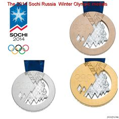 The 2014 Sochi, Russia Winter Olympic medals have now been released. These are the medals the athletes will be winning!  #Sochi2014 #Olympics #goworld