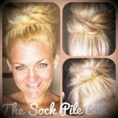 Sock Pile Bun Hair Tutorial ~ Eisy Morgan