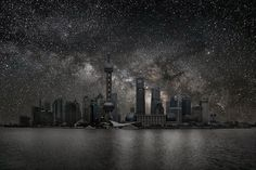 """""""Darkened Cities"""" series by Thierry Cohen"""
