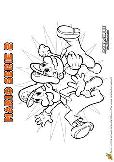 Coloriage De Mario Et Luigi Prets A Affronter Les Obstacles