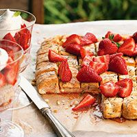 Rosemary-Strawberry Shortcake Pizza. Made this for the 4th last year. So good.
