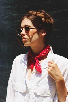 Le bandana au cou façon scout fashion