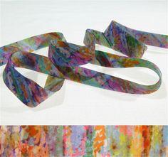 1 yard - Liberty of London Tana Lawn fabric, bias tape - print: Polly Genevieve D