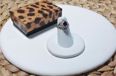 Poison Ring-Sterling Silver 925-Genuine Amethyst-Purple-Secret Compartment-Opens…