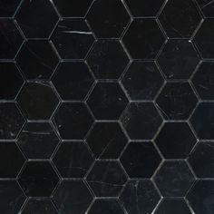 Nero Marmor polert Heksagon 5x5cm - ULFVEN Carrara, Tiles, Contemporary, Boho, Home Decor, Marble, Room Tiles, Tile, Interior Design