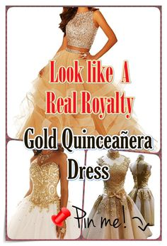Gold Quinceanera dress - Quinceanera is a tradition that initially arrived from the Latin America, and also it signifies the Girl's transformation from a kid to an adolescent. Quinceanera Dresses, Latin America, Timeless Beauty, Different Patterns, Every Girl, Royalty, Kid, Princess, Elegant
