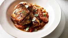 Paprika roast chicken with chorizo and white beans recipe - 9Kitchen