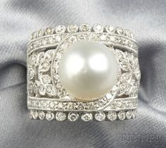 pearl and diamond ring pinned by eventsbystephanie.net
