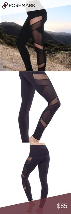 Sexy Mesh panel workout leggings Sexy Mesh panel workout leggings are so hot! You work for it so go for it and sport these everywhere - not just to the gym or Pilates - run your errands in these and see where the day takes yaabs no returns - please ask any questions. Great support for both a work out and on the streets.  Fabric Content88% Polyester 12% Spandex Fabric CareMachine wash cold, do not bleach, dry flat, iron low, do not dry clean, wash and dry with like colors. Electric Yoga…