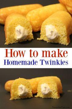 Fun Baking Recipes, Tea Recipes, Sweet Recipes, Cooking Recipes, Chili Recipes, Copycat Recipes, Twinkie Filling Recipe, Twinkie Cake Recipes, Breads