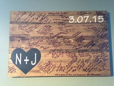 Rustic Pallet Wood Wedding Guest Book by BBSIGNSDESIGNS on Etsy