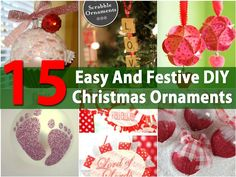 Christmas is coming! With it comes loads of crafts, homemade candies, cookies and other yummies and even gifts that you can make yourself. Ornaments are always fun to make so we have collected a few DIY ornaments that you can get started on to have ready when you decorate your tree...