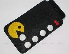 Handmade Pac Man Felt Pouch Sleeve Gadget Case...
