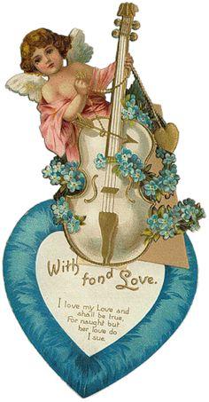 tubes saint valentin - Page 4 My Sweet Valentine, Valentine Cupid, Valentine Images, Vintage Valentine Cards, Happy Valentines Day, Decoupage Vintage, Vintage Ephemera, Vintage Cards, Vintage Postcards