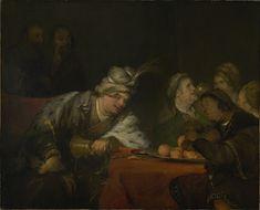The Banquet of Ahasuerus -- Aert de Gelder (Dutch, 1645 - -- -- Oil on canvas -- x cm x 56 in. Oil On Canvas, Canvas Art, Canvas Prints, Art Prints, Getty Museum Los Angeles, The Jewish Bride, Google Art Project, Dutch Golden Age, European Paintings