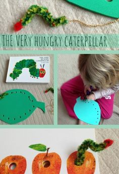 Very Hungry Caterpillar Threading Activities