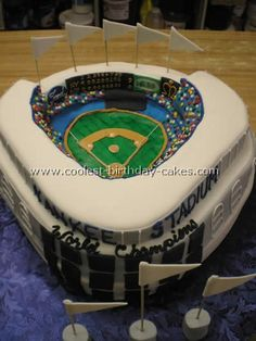 Coolest Homemade Baseball Birthday Cakes
