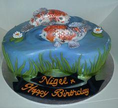 Koi Carp Pond Cake