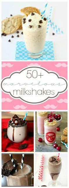 50+ Milkshake Recipes   www.somethingswanky.com