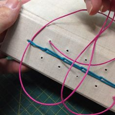 Looping long stitch bookbinding