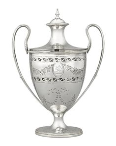 Covered Silver Sugar Urn by Robert Hennell | M.S. Rau Neoclassical Design, Get Directions, Georgian, Urn, Makers Mark, Antique Silver, Sugar, Antiques, Cover