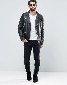 Men's Street Style — anunrealblog:    ASOS Leather Biker Jacket