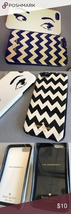 Kate Spade iPhone 4/4s cases In great used condition! Lot of 2 kate spade Accessories Phone Cases