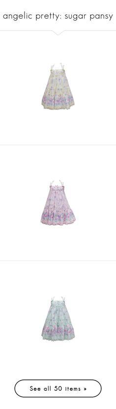 """angelic pretty: sugar pansy"" by scoutvenus ❤ liked on Polyvore featuring dresses, lolita, angelic pretty, jsk, lolita op/jsk, sugar pansy, skirts, jewelry, bracelets and cuff jewelry"