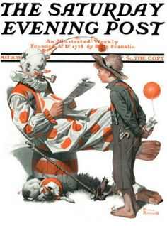 Circus – Meeting The Clown Saturday Evening Post Norman Rockwell