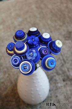 Blue Button Centerpiece Stems | Flickr - Photo Sharing!
