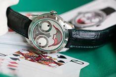 Wristmons - Konstantin Chaykin Joker Watch, Dogs Playing Poker, Poker Hands, Titanium Watches, Famous Dogs, Just A Game, Face Expressions, Mechanical Watch, Watch Case