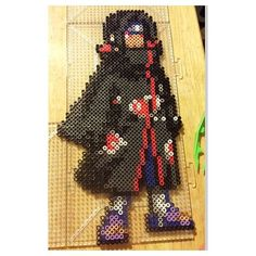 Itachi - Naruto perler beads by the_nerdy_girl_crafter