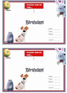 Secret Life of Pets Free Printable Party Invites